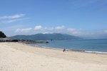 マリンふれあいの里 大浦崎公園のビーチ、音戸に白い砂浜が続く穴場の海水浴場
