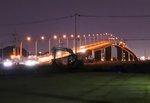 広島はつかいち大橋で夜景萌え、広島・五日市埠頭の夜の風景
