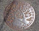 北広島町(旧大朝町)のマンホール