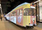 カープ電車 2021バージョンで「ワープする路面電車」の合間に登場、ジアウトレット広島で