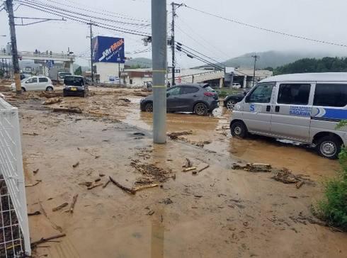 東広島市八本松で洪水・浸水被害