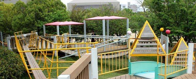 千田公園、広島の街ナカにアスレチックやスカッシュを楽しめる緑多き癒しゾーン