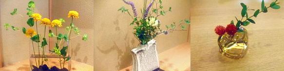 宮島 はやしや、テーブルに生花も飾り付け