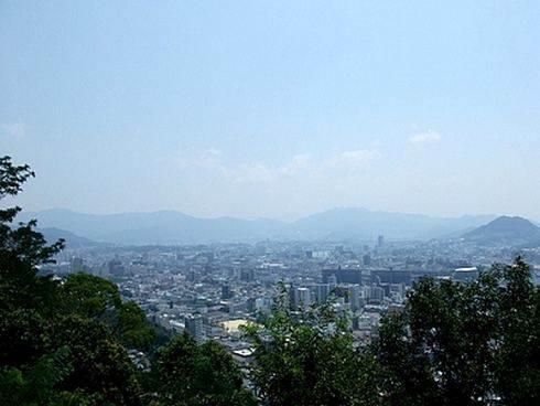 仏舎利塔からの眺め