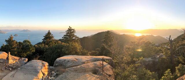 宮島 弥山(みせん)登山で山頂へ到着!弥山展望台と山頂の風景