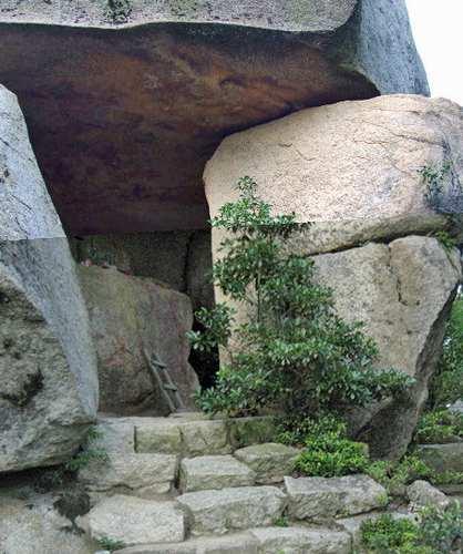 弥山の不動岩