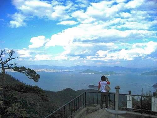 宮島 獅子岩展望台からの景色