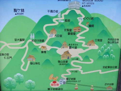 弥山 山頂マップ