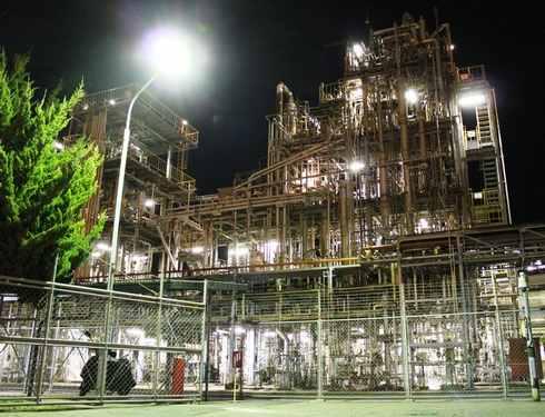 大竹コンビナートの夜景、工場萌え 三井化学さんなど