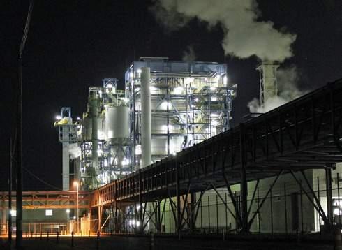 大竹コンビナートの夜景、工場萌え 風景