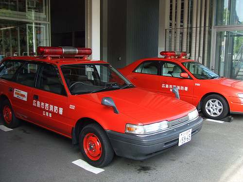 スケルトン消防署 救急車?