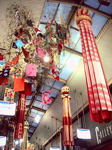 尾道 商店街 七夕飾り1