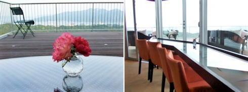 海の見える杜美術館 館内のカフェ カフェ・ド・ラ・ポスト7