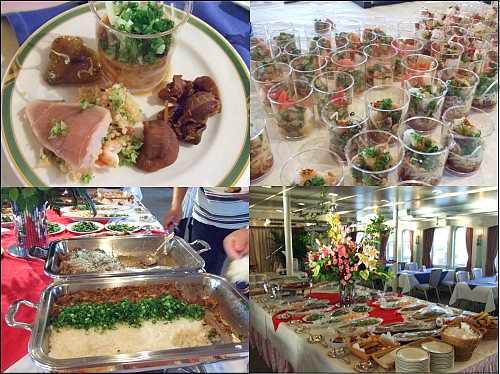 銀河 広島湾ナイトクルージングの食事