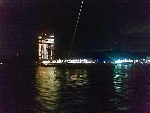 銀河 広島湾ナイトクルージングから見た夜景2