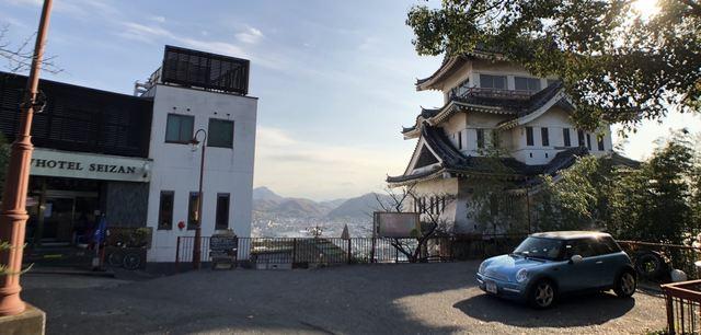 尾道ビュウホテルセイザン 駐車場は狭い