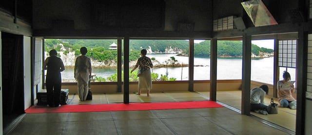 福山 鞆の浦 対潮楼(福禅寺)のお座敷から、絵のような絶景
