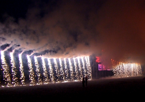 錦帯橋とんど祭り ナイアガラ