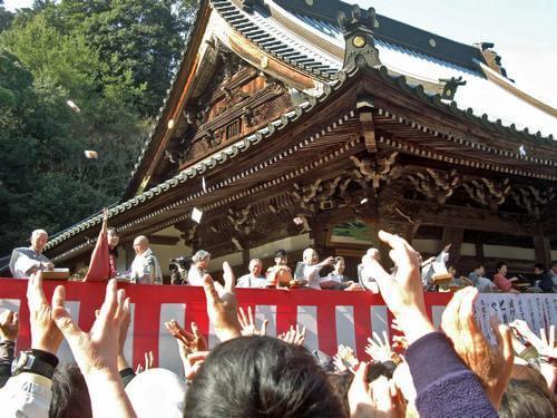 宮島 大聖院 節分祭、豆まきの様子 画像5