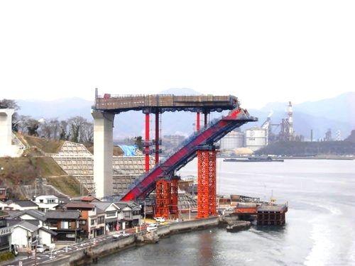 第2音戸大橋(警固屋音戸バイパス) 開通へ向け、建設着々と