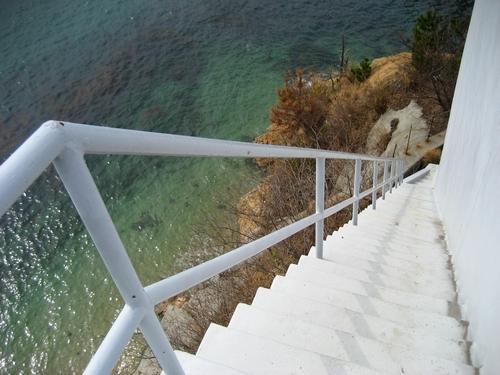 鹿島大橋 の階段