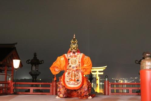 宮島 厳島神社の桃花祭15