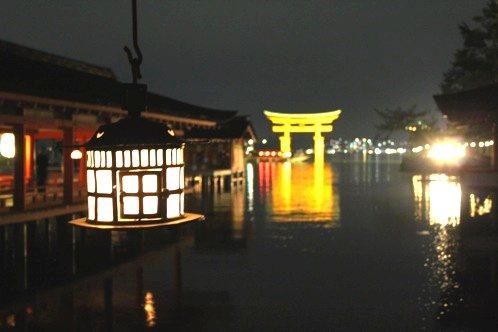 夜 安芸の宮島 画像12