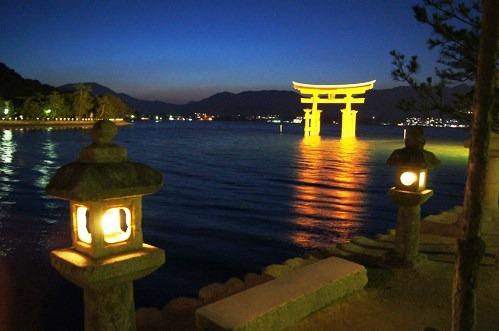 夜 安芸の宮島 画像6