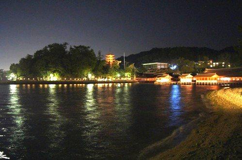 夜 安芸の宮島 画像7