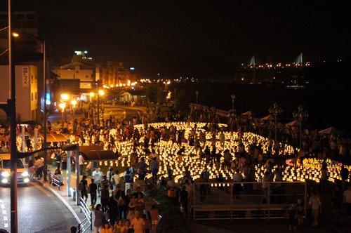 希望の灯りまつり、尾道駅前に5000個の灯り 画像6