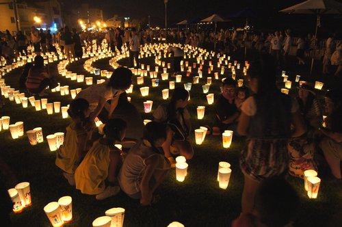 希望の灯りまつり、尾道駅前に5000個の灯り 画像4