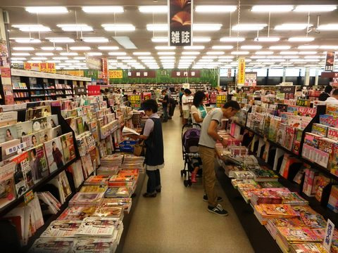 フタバ図書 GIGA五日市店 店内の様子