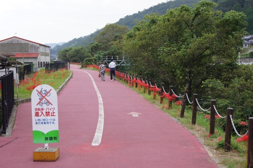 尾道市御調町 いきいきロードを歩くご夫婦 画像