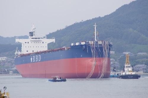 常石造船 進水式 画像19