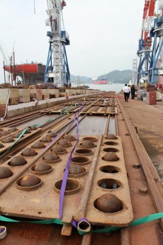 常石造船 進水式 画像8