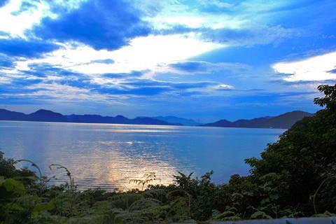 広島県福山市、横島からの風景