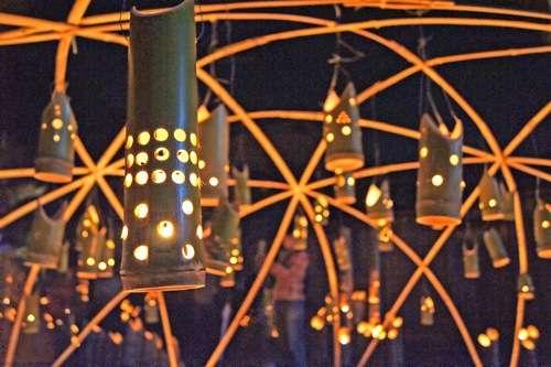 町並み竹灯り、竹原市 町並み保存地区が美しくライトアップ