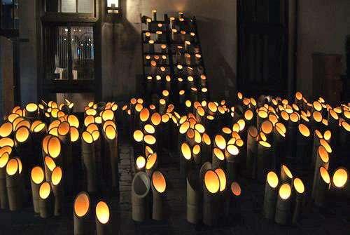 町並み竹灯り 竹原市にてライトアップ イベント画像