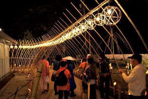 町並み竹灯り 竹原市にてライトアップ イベント 画像
