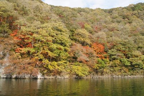 帝釈峡 遊覧船からの紅葉 景色の画像2