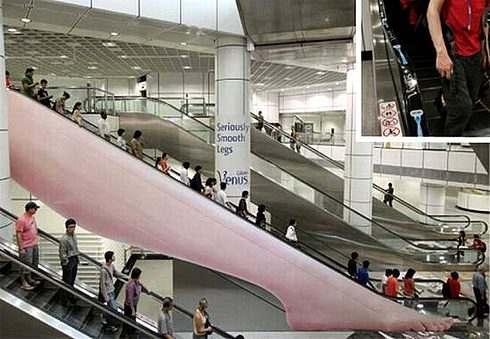 海外の面白広告 エスカレーター版 ジレット