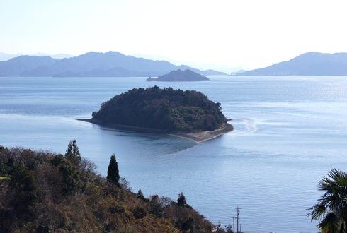 ハート島 広島県の小芝島を眺める
