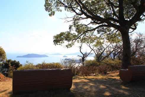 広島県呉市 音戸の瀬戸公園 ベンチ