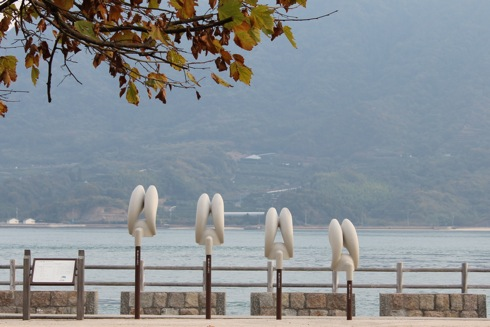 広島のうさぎ島、大久野島をぐるり。海や各施設などの風景
