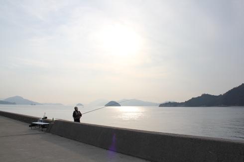 大久野島の風景 釣り人 画像7