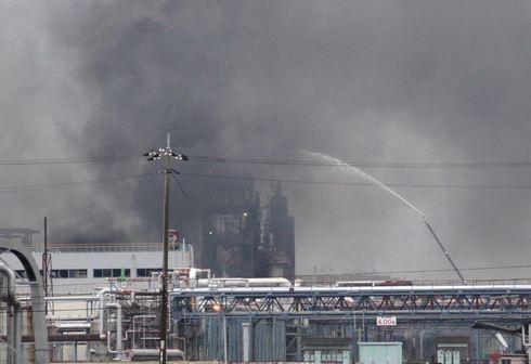 爆発があった、三井化学岩国大竹工場の現場の様子
