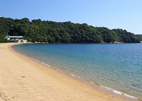 広島県呉市のビーチ、桂浜海水浴場