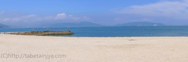 大浦崎公園のビーチ