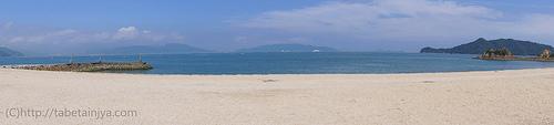 広島 バーベキューが出来る海水浴場