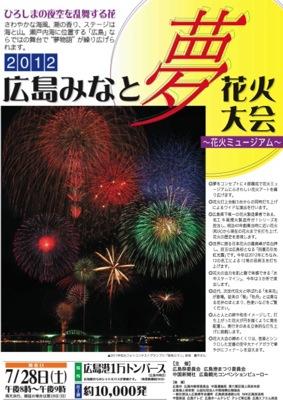 広島みなと夢花火大会(宇品花火大会) 2012は7月28日開催!穴場情報など
